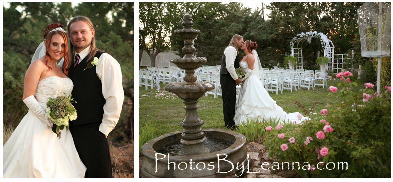 Beautiful couple in a beautiful Arizona wedding location!