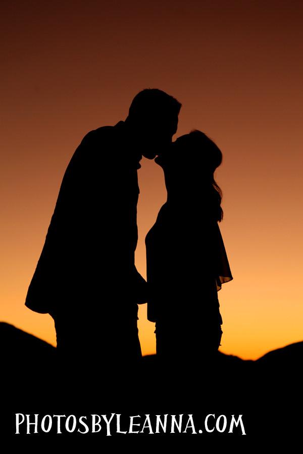 Romantic sunset photography